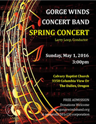 GWCB 2016 Spring Concert